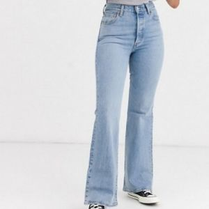 New LEVI'S Ribcage Flare Jeans